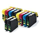 10 Compatible Printer Ink Cartridges fit Epson WorkForce WF 3530DTWF