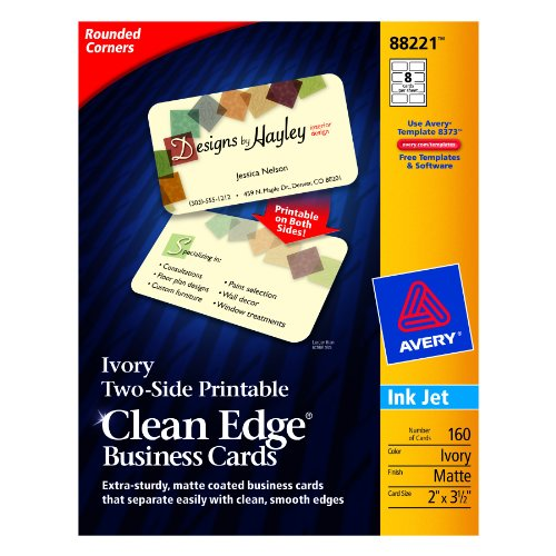 avery twoside printable clean edge rounded corner