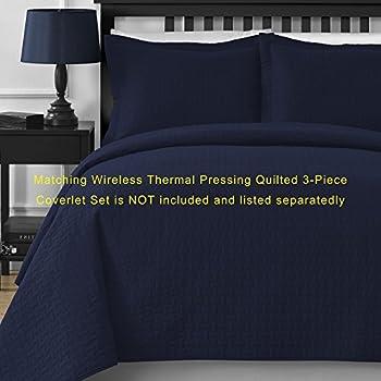 Comfy Bedding Frame Jacquard Microfiber Full 5-piece Comforter Set, Navy Blue