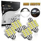 Partsam 31mm Canbus Error Free LED Light Bulbs for Interior Lights Map Dome Door Courtesy Light Bulbs DE3021 3175 -White 4Pcs