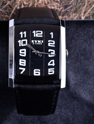 Ufingo-Fashion Casual Square Nice Looking Numeral Wrist Watch For Men/Boys-Black Band Black Dial