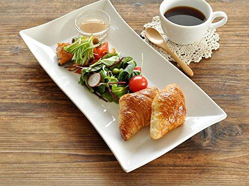 【M'home style】白い食器 トルチェみたいなロングトレー ホワイトレベル2