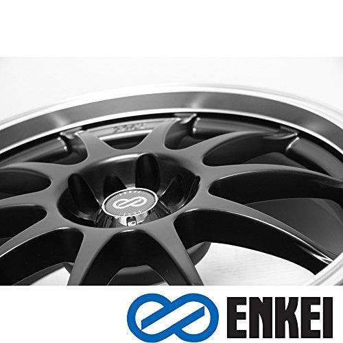 17x7 Enkei J10 (Matte Black w/ Machined Lip) Wheels/Rims 5x112/120 (409-770-16BK) (Pontiac G8 Lug Nut Covers compare prices)
