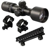 m1surplus Tactical 3-9x40 Compact Scope + Rings + Riser Mount For AR15 M4 SU16 SR556 SR22 CX4 S&W M&P SIG556 GSG-522 G22 Rifles