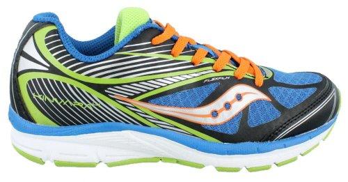 Saucony Kinvara 4 Running Shoe (Little Kid/Big Kid),Blue/Black/Green,2.5 M front-37917