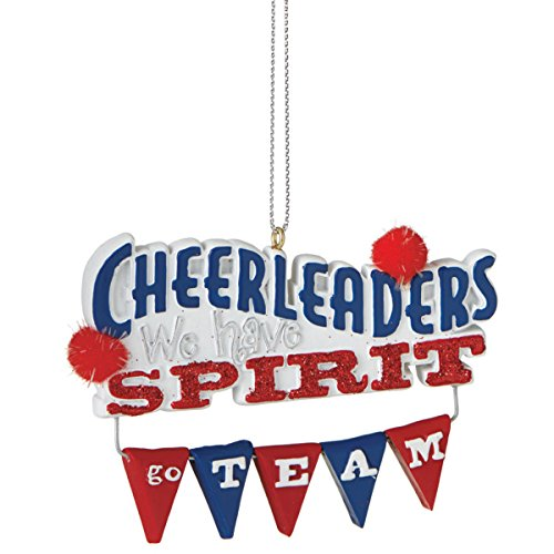 Cheerleader Spirit Christmas Tree Ornament
