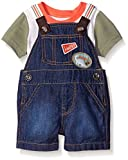 The Childrens Place Baby Denim Shortall, Simply White, 0-3 Months