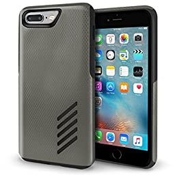 iPhone 7 Plus Case, Orzly Grip-Pro Case for iPhone 7 PLUS (5.5 inch Model) - Durable & Light-Weight Twin Layer Protective Case - Space Grey