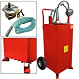 30 Gallon Gas Caddy Storage Tank Drum Barrel Gasoline Fluid Diesel Carrier Pump