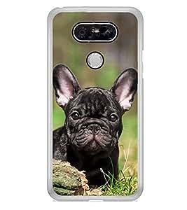 Cute Dog 2D Hard Polycarbonate Designer Back Case Cover for LG G5 :: LG G5 Dual H860N :: LG G5 Speed H858 H850 VS987 H820 LS992 H830 US992