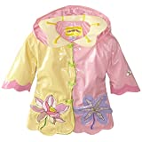 Kidorable Little Girls' Lotus Flowers All Weather Waterproof Coat