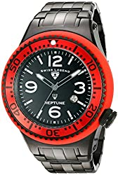 Swiss Legend Men's 21819P-BB-11-RD Neptune Force Analog Display Swiss Quartz Black Watch