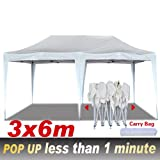 EZ POP UP Wedding Party Marquee Canopy Tent 3x6M Easy Folding Gazebo Beach Camp