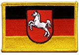 Germany Lower Saxony Flag embroidered Iron-On Patch