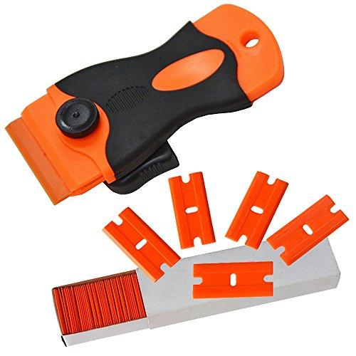 ehdisr-car-sticker-remover-plastica-lama-triumph-15-raschietto-con-100-pezzi-di-plastica-razor-blade
