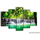 """Canvas Picture - 5 Piece - Total size: Width 59,1""""(150cm), Height 39,4""""(100cm) wall art print - Completely framed - Ready to Hang - multi panel - five 5 Part Panels - photo no. 2502 - EA150x100-2502"""