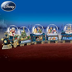 Disney Wonderland Express Miniature Snowglobe Train Collection from The Bradford Exchange