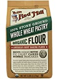 Bob's Red Mill Organic Pastry Flour Whole Wheat, 5-lb (Pack of 4)
