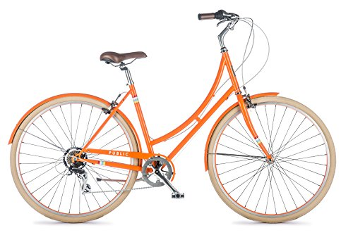 "Fantastic Deal! PUBLIC Bikes Women's C7 Dutch Style Step-Thru 7-Speed City Bike, 16""/Small, Ora..."