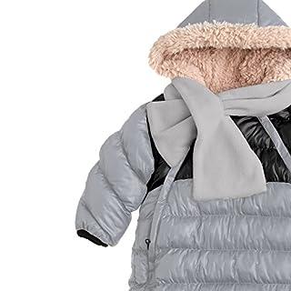 7AM Enfant Doudoune One Piece Infant Snowsuit Bunting, Gray/Black, Large