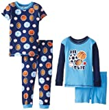 Gerber Baby-Boys Infant 4piezas juego de pijama de largo y manga corta, Deportes, 12Meses Color: Deportes Tamaño: 12Meses infantil, bebé, niño