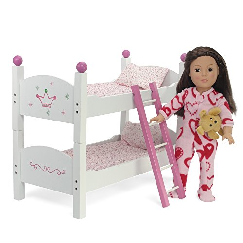 18 inch doll stackable bunk bed hand painted 2 sets of for Garden tools for 18 inch doll