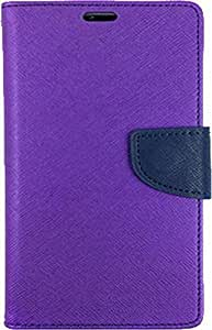 Exoic81 Wallet Flip Cover For Samsung Galaxy Grand Neo (GT-I9060) - Purple
