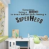 42*102cm Superhero USA symbol sometimes begin a brother.. removable art decoration for bedroom nursery