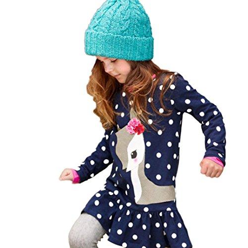 Culater® Bambino neonate vestiti di autunno a maniche lunghe Deer Top abito T-shirt (6)