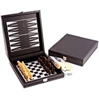 Bey-Berk G552 5-in-1 Black Leather Game Set