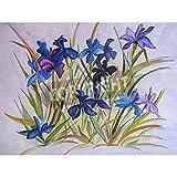 Artzloom Flowers Art Painting Abstract - Watercolor Or Painting On Silk - Batik. Art Wall Decor. Flowery Background... - B011GP1O2K