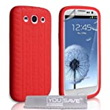 Samsung Galaxy S3 Silicone Gel Tyre Tread Case - Redby Yousave Accessories