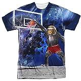 Basketball Monkey Dunking On The Moon T-Shirt