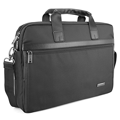 15.6 inch Laptop Bag, Evecase Messenger Chromebook Carrying Case- Black with Handles, Shoulder Strap, and Multiple Accessory Pockets (for 15.6 in laptops, ultrabooks) (Hp Split X2 11 Inch compare prices)