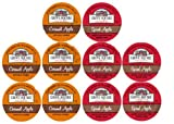 10 Cup Grove Square® SPICED & CARAMEL Apple Cider Single Serve Cups! 2 Delicious flavors! Sugar Free