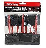 Dekton 10pc Foam Brush Set 3 PackS