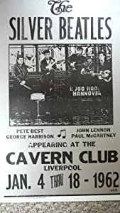 Silver Beatles at the Cavern Club 1962 Poster