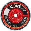"CoreTemp 77520 Type 29 Regular Density Abrasive Flap Disc with Plastic Turbo Backing, Threaded Hub, Zirconium, 5"" Diameter, 5/8""-11 Arbor, 120 Grit  (Pack of 5)"