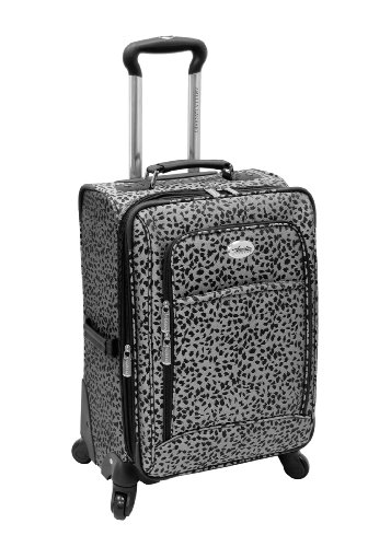 amelia-earhart-luggage-safari-360-collection-28-expandable-upright-silver-black-jacquard-28-inch