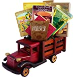 Antique Truck of Gourmet Food and Snacks - A Great Gift Basket for Him!
