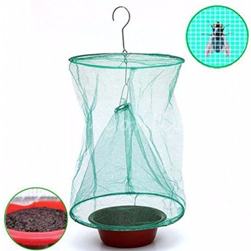 Foldable Drosophila Fly Trap Hanging Catcher Wasp Bug Insect Killer Outdoor Pest Insect Control Tools with White Pot (Slaughterhouse Glass House compare prices)