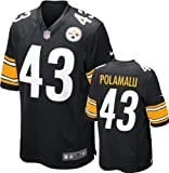 Troy Polamalu Jersey Home Black Game Replica #43