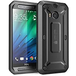 SupCase Bumper Case For HTC One M8 (Black/Black) With Screen Protector