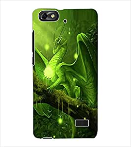 ColourCraft Dragon Design Back Case Cover for HUAWEI HONOR 4C