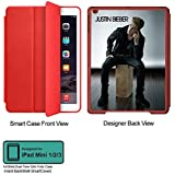 Universal Music Officially Licensed Justin Bieber -Style 2 Tablet Designer RED SMART CASE For APPLE IPAD MINI...