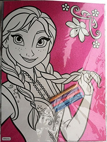 Disney Frozen Anna Glitter Coloring Sheet with 5 Markers - 1