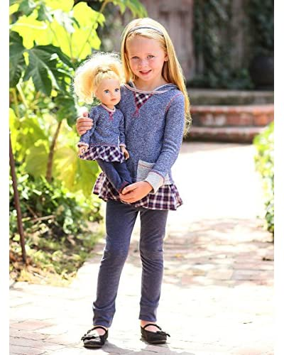 Freckles + Kitty Kid's French Terry Tunic Set and Doll Outfit