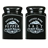 513fJI8ooBL. SL160  Premier Housewares Vintage Home Salt and Pepper Shakers Set, Black
