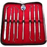 Canduré - Set Dentiste - 8 Instruments Dentaires - Acier Inoxydable + Housse