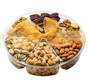 Freshly Roasted Nuts Gift Basket, Nut Gift Tray 6-section Medium Gift Tray